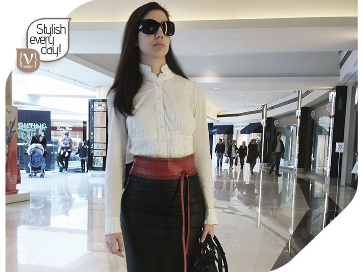 Stylish Every Day - Leather Pencil Skirt