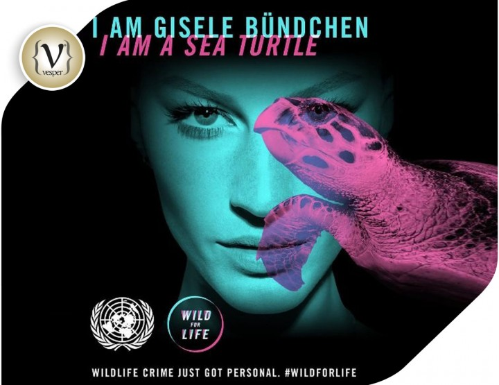 Gisele for United Nations Wild for Life Campaign