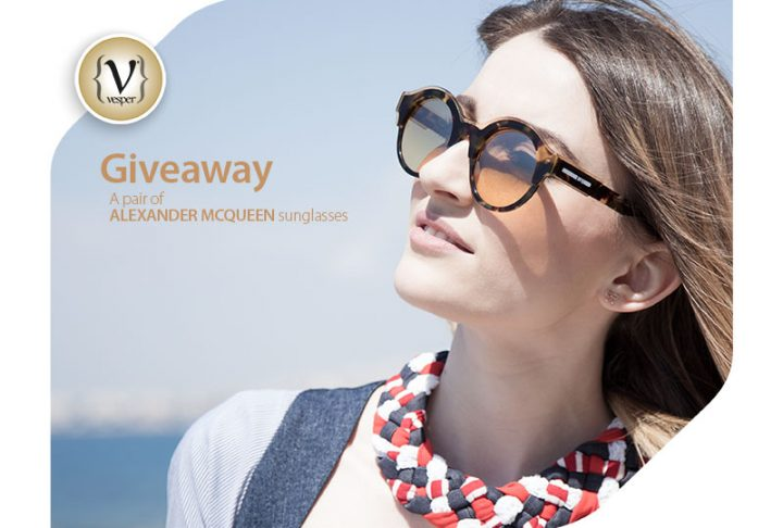 Giveaway - 1 pair of Alexander McQueen Sunglasses