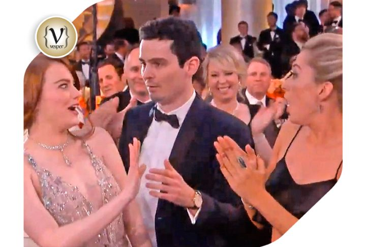 The awkward moment of Emma Stone at the Golden Globes