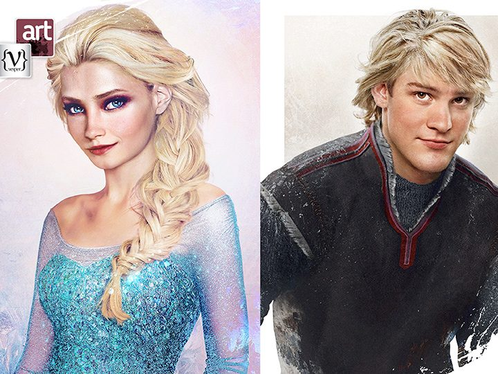 How would Disney characters look like in Real Life by Jirka Väätäinen