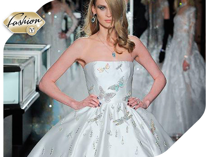 The astonishing expensive gown by Reem Acra and Tiffany & Co