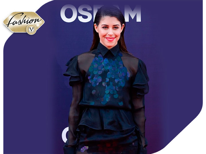 Greek singer Demy on the red carpet of Eurovision with a Koudounaris creation