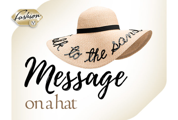 Message on a hat