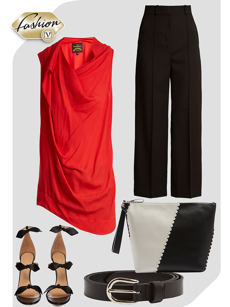 A touch of red - outfit - VESPER gr Magazine
