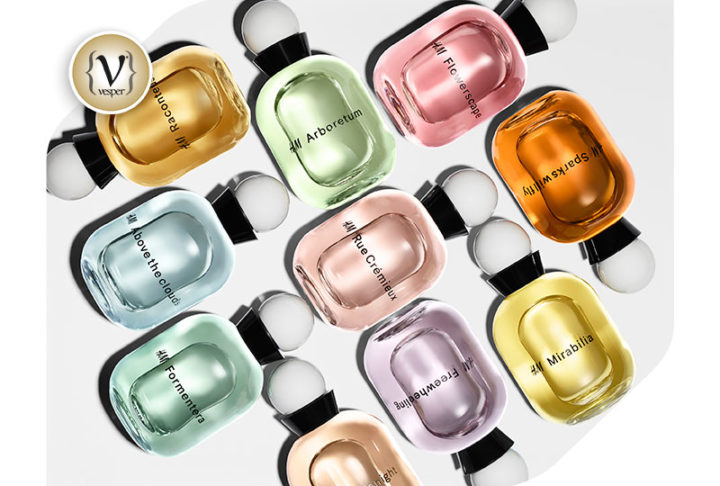 A wardrobe of perfumes by H&M