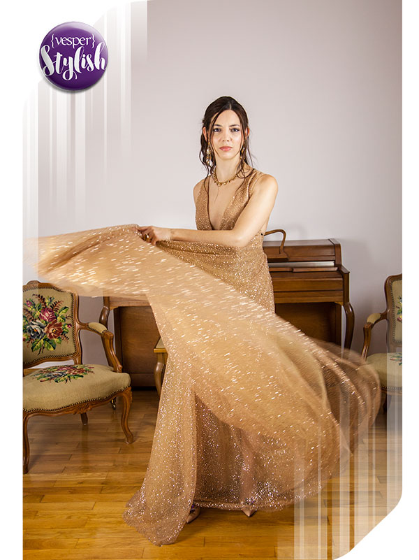 Vesper Stylish - Glamorous Gold look - outfit