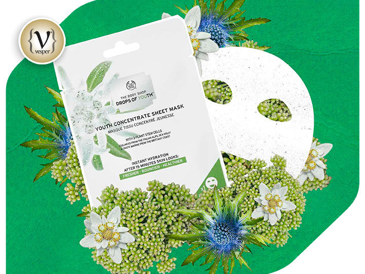 H Body Shop λανσάρει την νέαDrops of Youth™ Youth Concentrate Sheet Mask