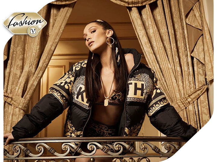 Bella Hadid is the new face of Kith x Versace Campaign