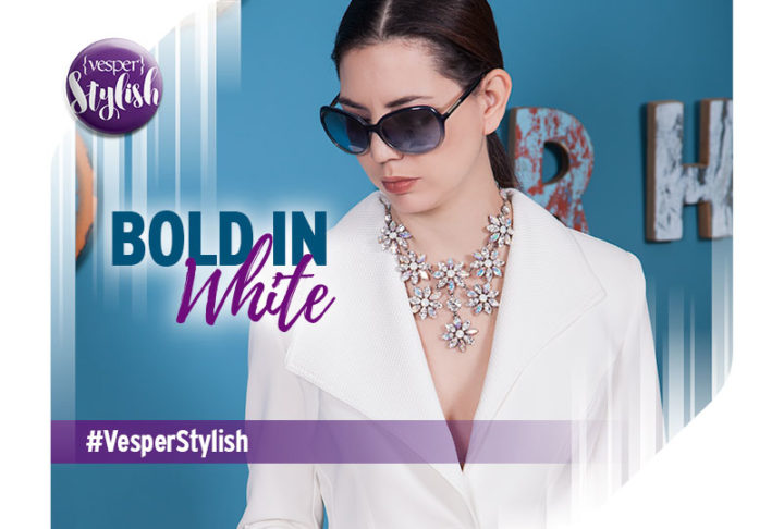 Vesper Stylish - Bold in White