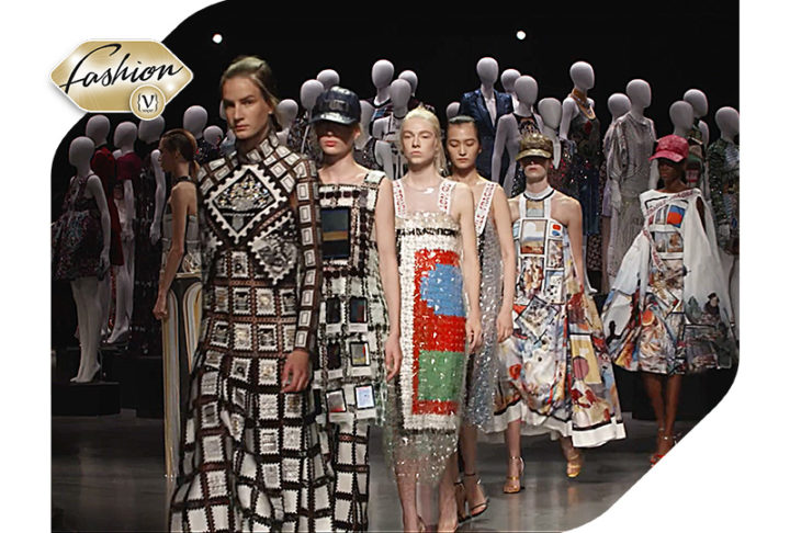 The fashion show of Mary Katrantzou at the Poseidon Temple