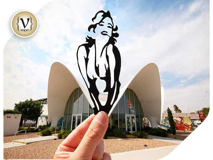 This mix of paper art and reality creates stunning illusions
