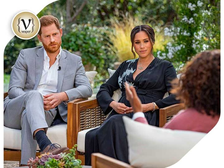What did Harry and Meghan discuss on their interview with Oprah